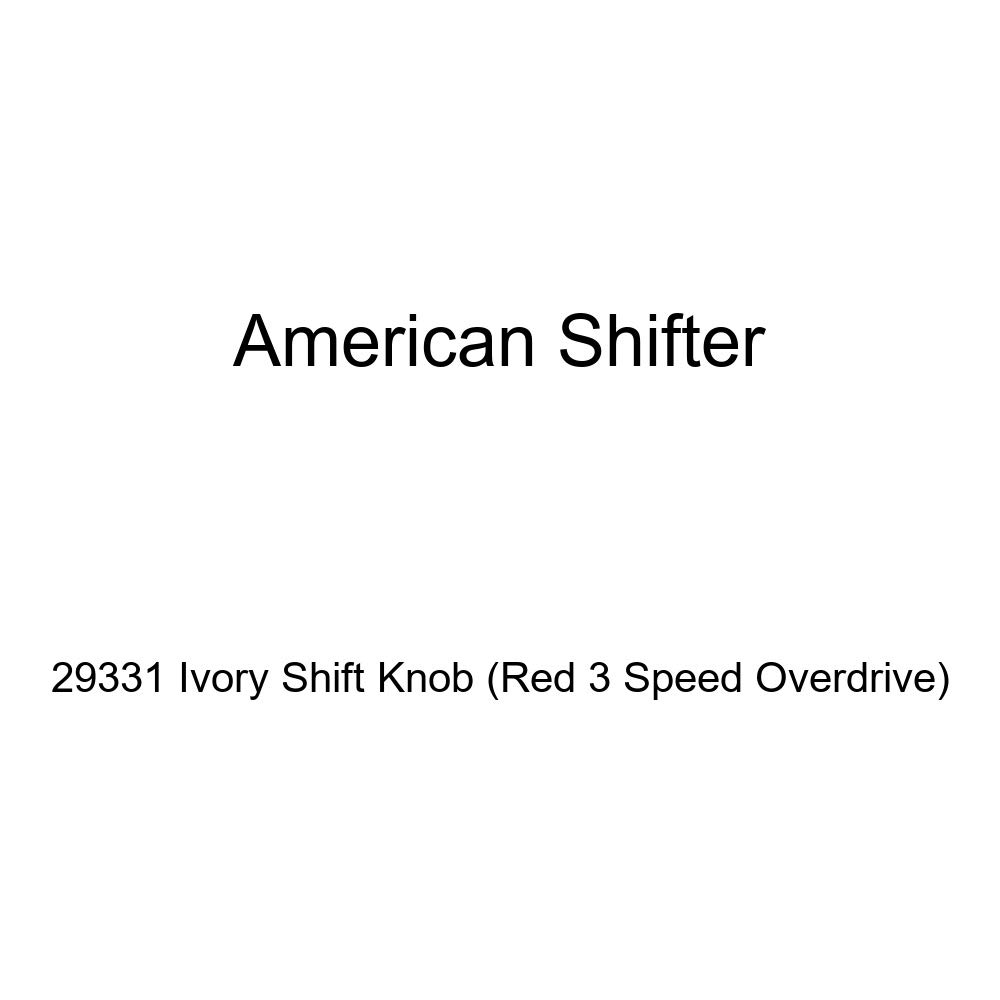 American Shifter 29331 Ivory Shift Knob Red 3 Speed Overdrive