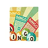 VROSELV Custom Blanket Vintage Bingo Game with Ball and Cards Pop Art Stylized Lottery Hobby Celebration Theme Soft Fleece Throw Blanket Multi