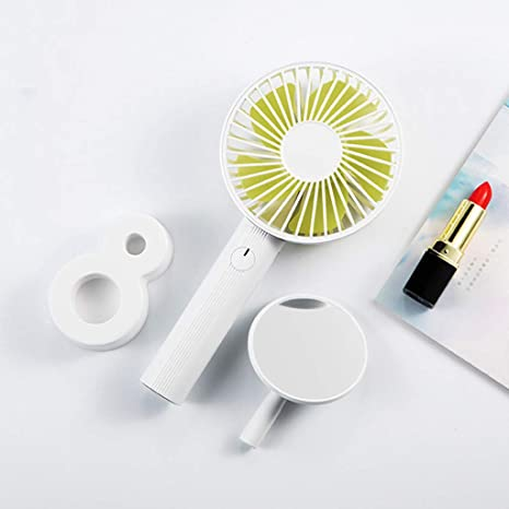 Mini USB Table Desk Personal Fan Handheld Makeup Mirror Fan USB Operated 5 Level Speed Portable Rechargeable Silent for Home Office Outdoor Summer Strong Wind,Quiet Operation,for Home Office.