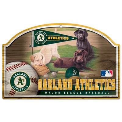 Oakland Athletics Wood Sign - MLB Oakland Athletics 11-By-17-Inch Killen Print Wood Sign
