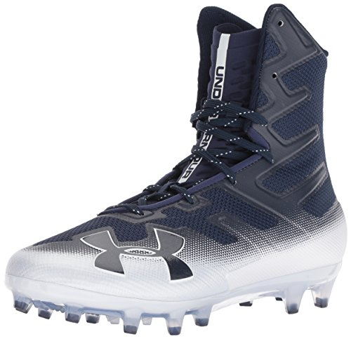 White Football Cleat - Under Armour Men's Highlight MC Football Shoe, Midnight Navy (402)/White, 15