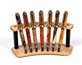 Maple and Ebony Upright Pen Stand - 7 Pen