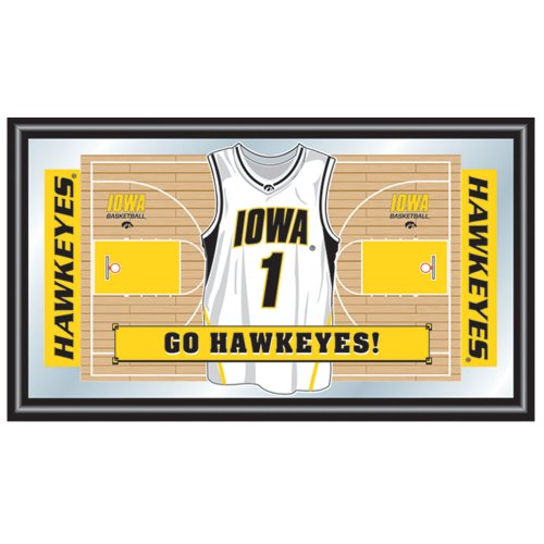 (NCAA University of Iowa Framed Logo Mirror)