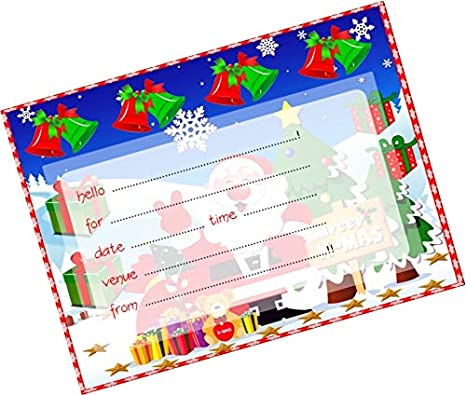 Partystuff Cards Christmas Invitation Card Amazon In