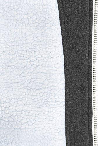 Veste Zippé Teddy Polaire Med shirt Mit Sweat En Éclair Homme Pour Sweat À futter Doublure Fermeture Avec solid Bennzip Capuche Grey w1qHII