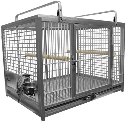 Large Aluminium Parrot Travel Carriers CAGE ATM 2029 Bird Cages Silver