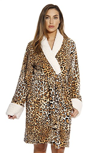 6345-10114-3X Just Love Kimono Robe / Bath Robes for Women,Leopard