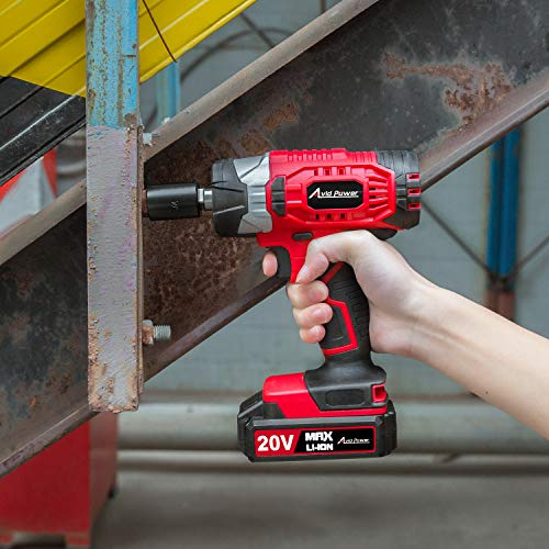 """20V MAX Cordless Impact Wrench with 1/2"""" Chuck, Max Torque 230N.m, 4Pcs Driver Impact Sockets, Tool Bag and 1.5A Li-ion Battery, Avid Power MCIW326 by Avid Power (Image #6)"""