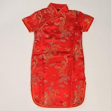 Shanghai Tone® Vestido tradicional de China Qipao para niñas ...