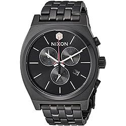 Nixon Men's 'Star Wars Kylo' Quartz Stainless Steel Casual Watch, Color:Black (Model: A972SW2444-00)