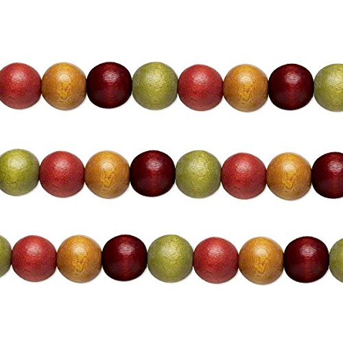 Wood Round Beads Earth Tones 12mm 16 Inch Strand