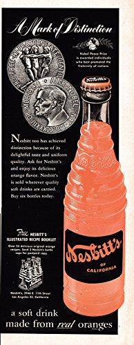1951 Nesbitt Orange Drink Soda Pop-Original 13.5 * 5 Magazine Ad-Real Oranges