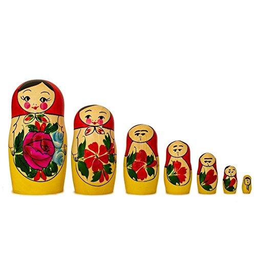 BestPysanky Set of 10 Traditional Semenov Russian Nesting Dolls Matryoshka 10 Inches by BestPysanky (Image #4)