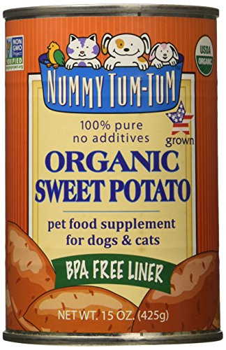 Digestion Soother - Nummy Tum Tum Pure Sweet Potato for Pets, 15-Ounce Cans (Pack of 12)