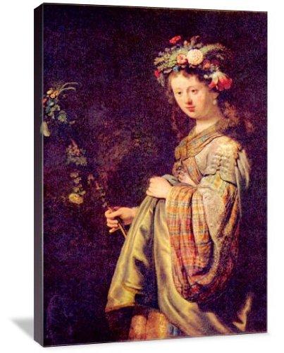 5102 Van - Flora (portrait of Saskia as Flora) 13