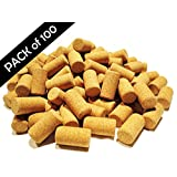 Wine Corks - Pack of 100 Natural, New, Straight, Micro Agglomerated, #9 (1 3/4