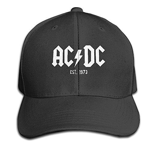 Unisex Hats AC DC - Est. 1973 Black Plains Snapbacks Cap