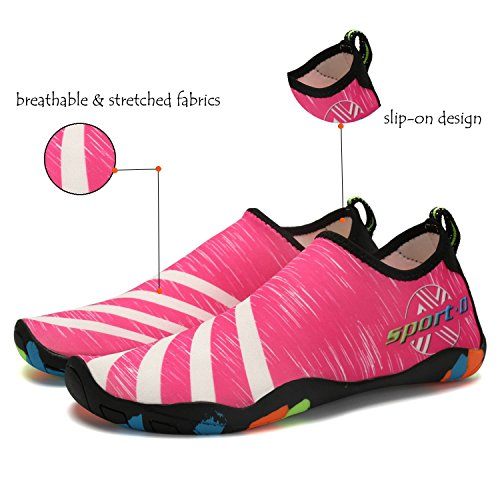 Lxso Men Women Water Shoes Multifunctional Quick-Dry Aqua Shoes Lightweight Swim Shoes With Drainage Holes 2-rose eMnh2z6