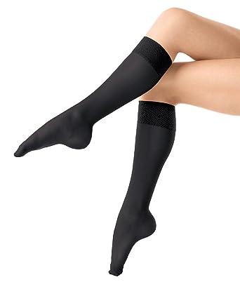 5ecae2168e1111 Spanx 2-Pack Hi-Knee 014 One Size/Black at Amazon Women's Clothing store:  Plus Size Knee Hi Socks Women
