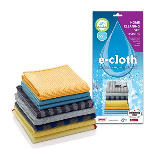 E-Cloth Home Cleaning Set for Chemical-Free Cleaning with Just Water - 8 Cloth ()