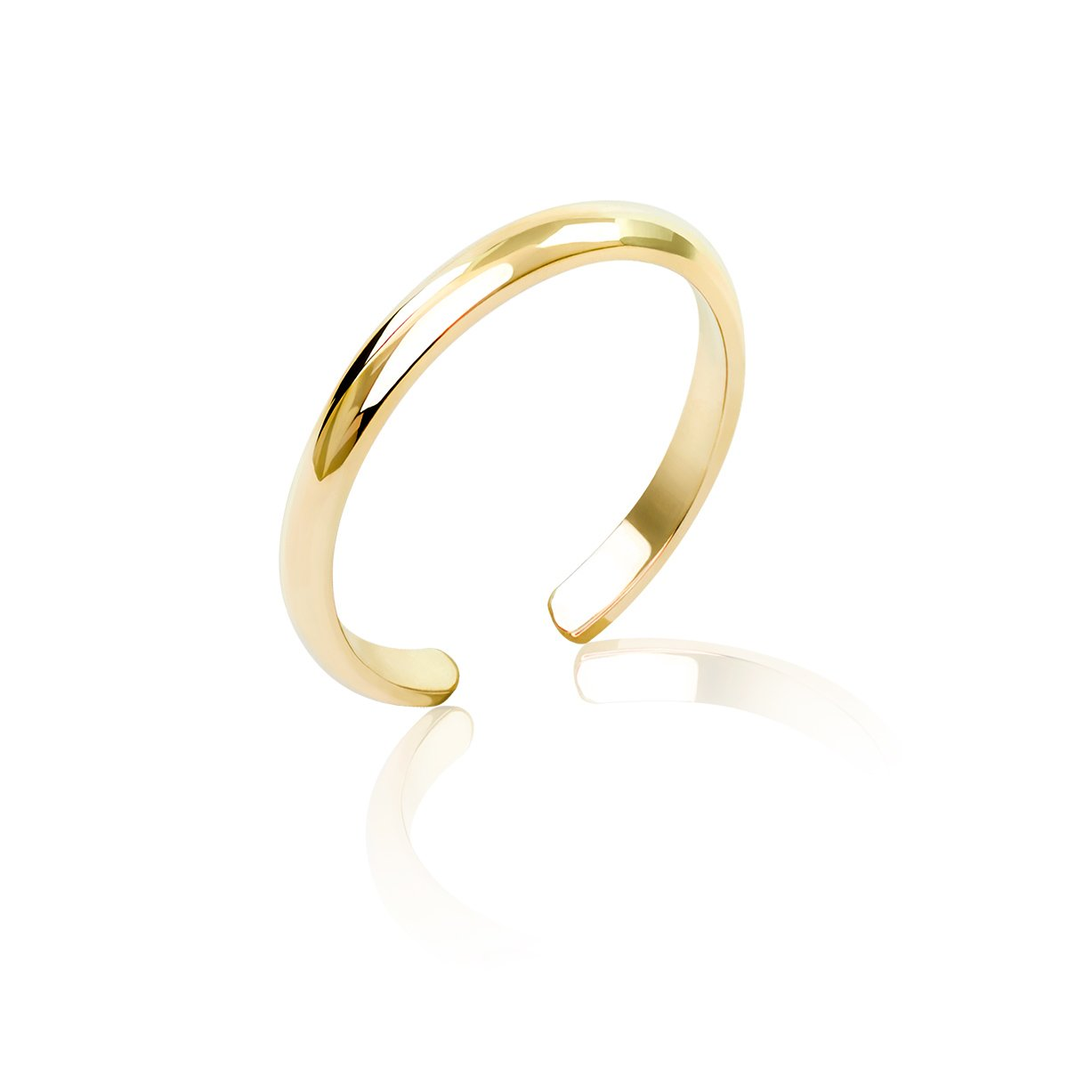 Honolulu Jewelry Company 14K Yellow Gold Band Toe Ring (2mm) by Honolulu Jewelry Company