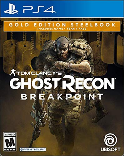 Tom Clancy's Ghost Recon Breakpoint Steelbook Gold Edition - PlayStation 4 (Tom Clancys Ghost Recon Wildlands Discount Code Ps4)