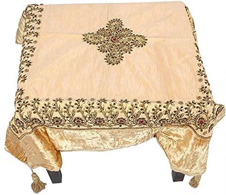 Jaipur Textile Hub Indio Mantel Camino de Mesa Seda Brocado Parte ...