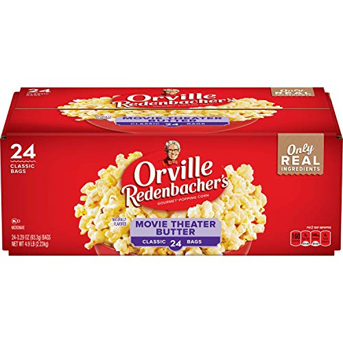 Orville Redenbacher's Movie Theater Butter Microwave Popcorn, 3.29 Ounce Classic Bag, 24-Count (Best Way To Store Popcorn Kernels)
