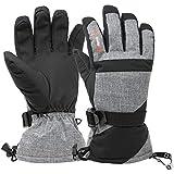 Alpine Swiss Mens Waterproof Gauntlet Ski Gloves Winter Sport Snow Boarding Windproof Warm 3M Thinsulate