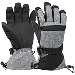 Waterproof Snow Gloves By Alpine Swiss Product Features: Manmade materials WARM 3M THINSULATE - Our gloves are insulated with 40g of 3M Thinsulate material that is thick enough efficiently trap heat and keep your hands warm. 3M Thinsulate is ...
