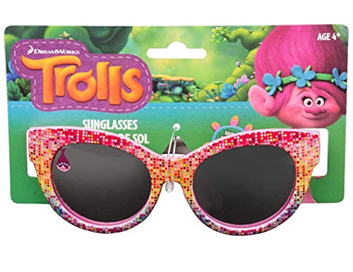 Price comparison product image Dreamworks Trolls Poppy Love Fun Time Sunglasses - 100% UVA & UVB Protection (Poppy Dot Fun)