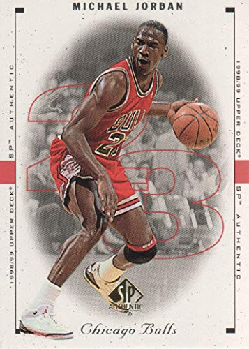 1998-99 SP Authentic Basketball #1 Michael Jordan Chicago Bulls