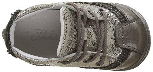 IKKS Sydney - Zapatos de primeros pasos Bebé-Niños Plateado - Argent (11 Vtc Argent/Zebre Dpf/Link)