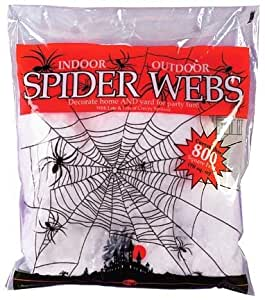 Large White Fake Halloween Spider Web