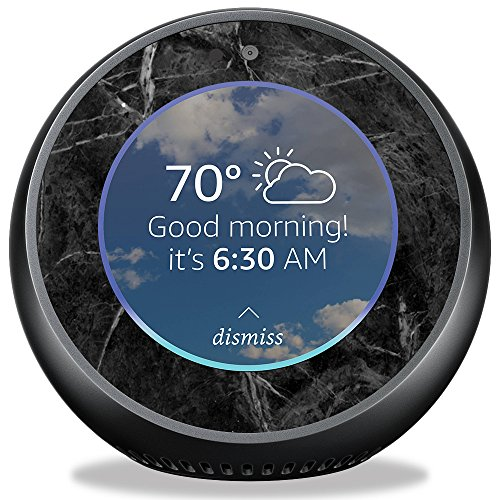 Skin for Amazon Echo Spot – Black Marble| MightySkins Protective, Durable, and Unique Vinyl Decal wrap cover | Easy To Apply, Remove, and Change Styles | Made in the USA
