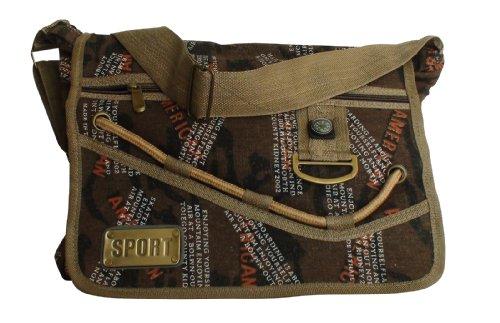 COOL24 - Schuhe AMERICAN - Bolso al hombro para mujer Brown Compass