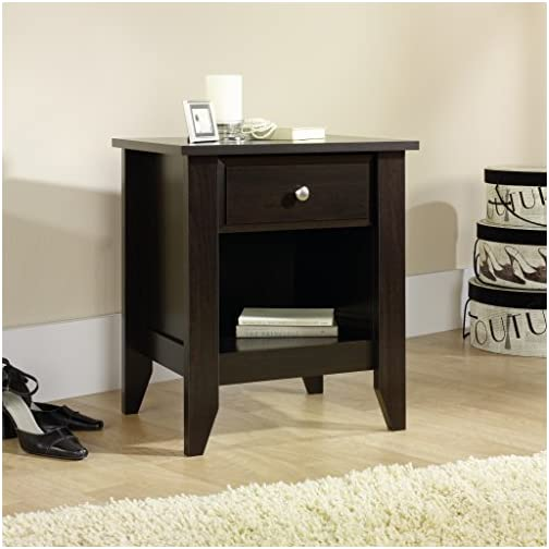 Sauder Night Stand, Jamocha Wood Finish