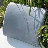 vented microfiber - Memory Foam Lumbar Cushion Travel Pillow Car Flight Seat Home Chair Back Support