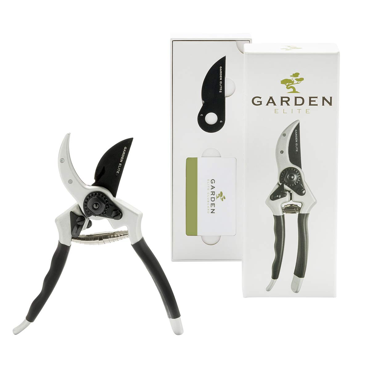 Razor Sharp Bypass Pruning Shears - Lifetime Replacement - Free Extra Blade, Spring & eBook - Japanese Steel - Premium Hand Pruner - Gardening Shear - Garden Clippers - Secateur with Ergonomic Handles by Garden Elite