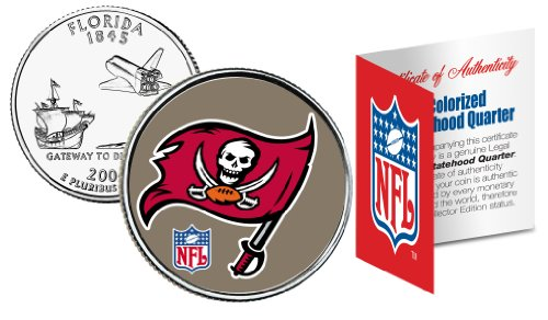 - TAMPA BAY BUCCANEERS NFL Florida US Statehood Quarter Colorized Coin *Licensed*