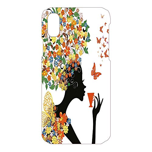 Phone Case Compatible 3D Printed 2018 Apple iPhone Xs MAX DIY Fashion Picture,Hot Tea Cup Butterflies Wings Daisies Poppy Hibisc,Lovely Personalized Hard Plastic Phone Case Fashion -