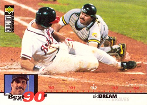 1995 Upper Deck Collector's Choice #55 Sid Bream Baseball Card - The Slide