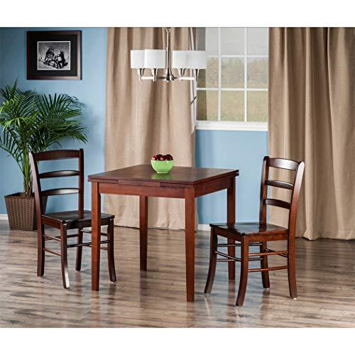 (Wood & Style Premium Décor 3-Pc Set Extension Table 2 Ladder Back Chairs)