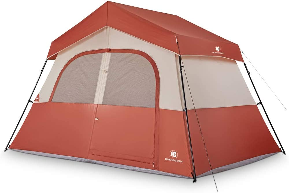TOMOUNT 3 or 5 Person Tent – Professional Waterproof Windproof Pest Proof Camping Tent, Solid Portable with Carry Bag, Easy Quick Setup, Anti-UV, Double Layer, 3 Large Mesh for Ventilation