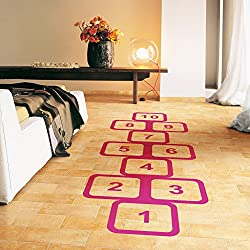 Greencherry Decorative Ground Wallpaper Nursery Room Decal Floor Hopscotch Game Sticker Children for Fun