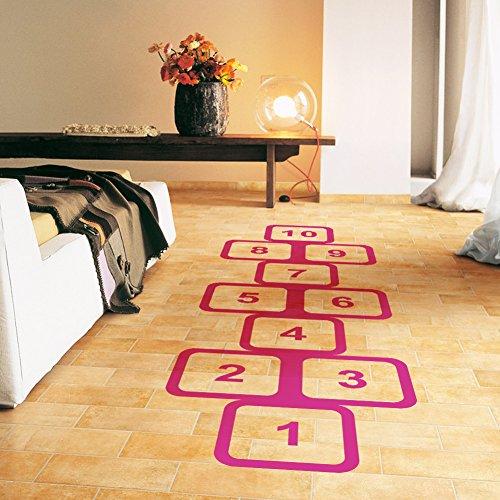 Greencherry Decorative Ground Wallpaper Nursery Room Decal Floor Hopscotch Game Sticker Children for Fun