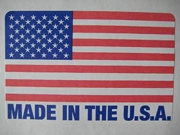 USA FLAG LABEL STICKER 100 2 x 3  AMERICAN