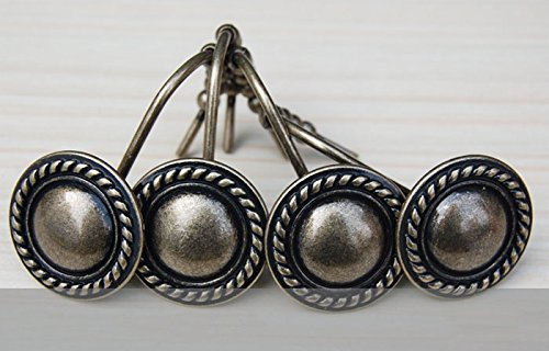 12pcs Antique Vintage Hats Mold Rolling Shower Curtain Hooks Rings Anti Rust