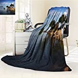 Decorative Throw Blanket Ultra-Plush Comfort lake malawi in africa Soft, Colorful, Oversized | Home, Couch, Outdoor, Travel Use(90''x 70'')