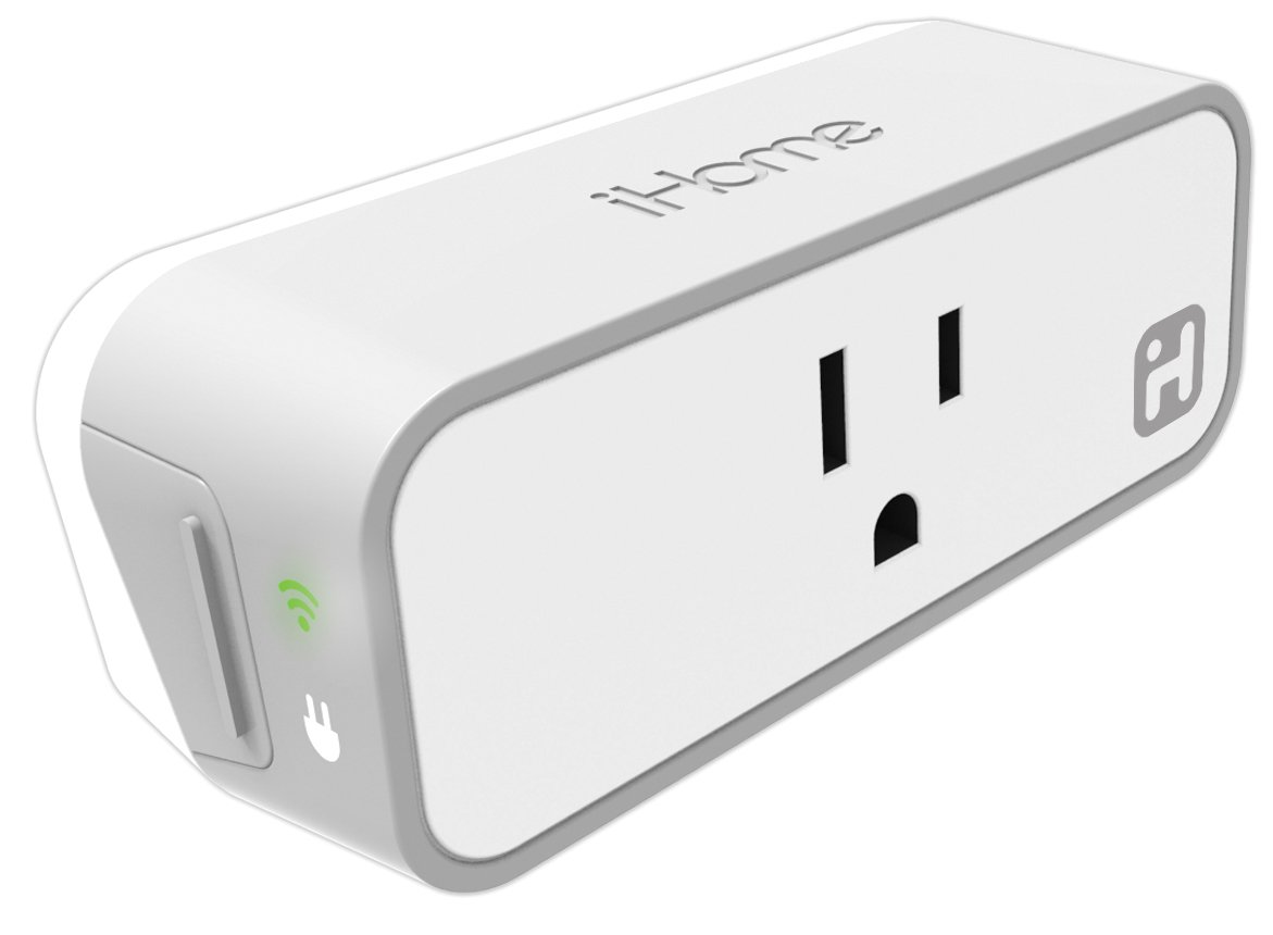iHome ISP6X Wi-FI Smart Plug, Use your voice to control connected devices, Works with Alexa, Google Assistant and HomeKit enabled smart speakers